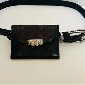 BRIGHTON-Beautiful belt w/small wallet attachment.